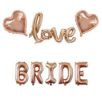 Bride Love Foil Balloons Rose Gold Bridal Shower Decorations Balloon Wedding Hen