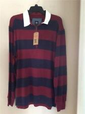 Nwt $64 DOCKERS Caberney wine blue l/s zippered pullover XL 100% cotton