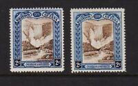 British Guiana - #153, #153b mint, cat. $ 85.00