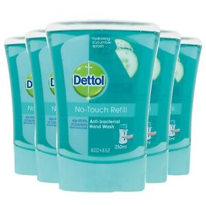 5 x Dettol No Touch Refill Hand Wash Cucumber - Mega Pack - UK Stock!!!