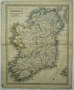 Antique map of Ireland by John Russell 1825