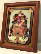 Antique Victorian Reverse Glass Painting In Period Frame