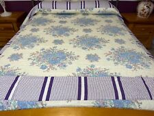 Queen size machine quilted quilt#8041A