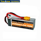22.2V 3300mAh 6S LiPo Battery 50C XT90 for RC Car Truck Boat Helicopter Airplane