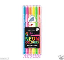 STAEDTLER Triplus color 323 SB6CS1 Triangular fibre-tip pen 6 NEON colours SET