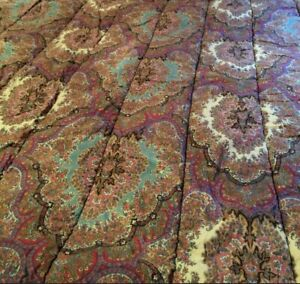 Vintage Ralph Lauren EMERSON PAISLEY QUEEN Comforter BOHO MINT