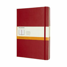 Moleskine Classic Notebook, Extra Large 19x25cm, Ruled, Red, Hard Cover