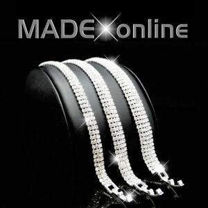 Straight Bracelet Silver Plated Diamante Diamonte Sparkle Bling Bracelet