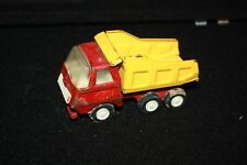 Vintage Pressed Steel Red & Yellow Tonka Dump Truck 4 1/2 Inches Long