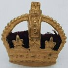 Officers rank crown Kings Crown Gilt brass red cushion 23*22mm North south lugs