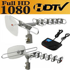 Outdoor 360 Rotation Digital Amplified Antenna TV DTV VHF HDTV UHF FM Rotor