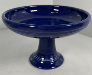 Vintage Fiesta Cobalt Blue Sweets Comport Compote Candy Dish Fiestaware