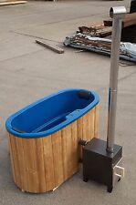 Badezuber  Badebottich Badetonne oval 1,85m x 0,95m  mit Einsatz und Ofen.