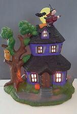 Ceramic Halloween Haunted House Lighted Decoration