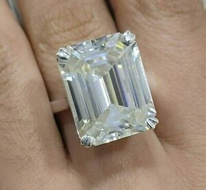 RARE & HUGE 40.10 Ct Certified Off White Diamond Ring, Great Shine WATCH VIDEO