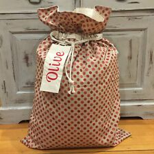 Santa Sack, Kris Kringle, Christmas Sack,Timeless Quality, Name Tag