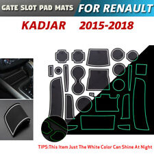 Gate slot pad For Renault Kadjar Accessories Anti-Slip Mat 2015-2018 (White)