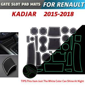 Gate slot pad For Renault Kadjar Accessories Anti-Slip Mat 2015-2018 (White)