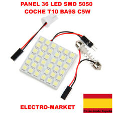 BOMBILLA LED PANEL 36 LED SMD 5050 COCHE T10 BA9S C5W FESTOON INTERIOR PLACA LE