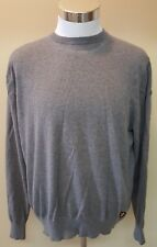 Lincs by David Chu Mens Gray Sweater Crewneck Cotton Cashmere Size Large