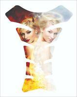 Devil Angel Girl 3D Gel Motorcycle Gas Tank Pad tankpad Protector Decal