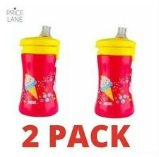 New Baby Toddler Kids NUK One Piece Cup Water Bottle 300ml 2 PACK for 9 months+