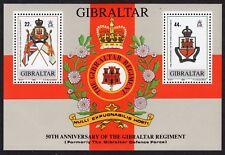 Gibraltar: 50th Anniv of Gibraltar Regiment unmounted mint (MNH) miniature sheet