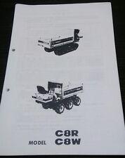 YANMAR C8R, C8W,YFW8R,YFW8W  Parts Manual