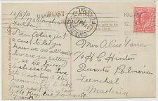 2468 1911 EVII 1 D rose-carmin HARRISON PRINTING on very fine b/w RP to MADEIRA