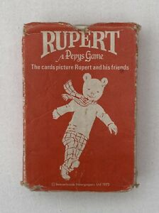 Vintage 'Rupert' Playing Card Game - A Pepys Game