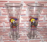 Vtg Bud Light Beer Pilsner Glass Glasses Spuds MacKenzie 1987 Lot Of 2 #3