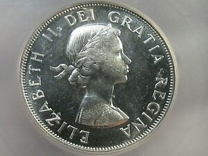 Proof 1958 Silver 50¢ Fifty Cent CANADA White! ICG PR64.  #23