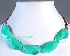 """NEW Turquoise Fauceted Acrylic Stone Necklace Women's 18"""" Adjustable Dress"""