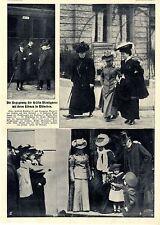 Begegnung der Gräfin Montignoso mit ihren Söhnen in München Bilddokument v.1906