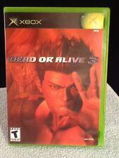 DOA DEAD OR ALIVE 3 ORIGINAL MICROSOFT XBOX FIGHTING GAME