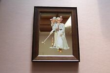 Norman Rockwell Image Vintage Game of Golf Small Pictorial Mirror