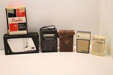 6 Vtg Transistor Radios Bulova Public Fiesta Magnavox Ever-Play Channel Master