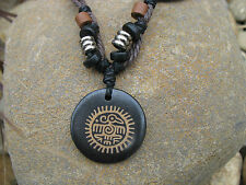 Tribal Totem Surf Hippie Bo-Ho Unisex Beaded Pendant Necklace