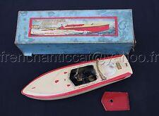 Rare ancien canot de bassin BATEAU COURSE HORNBY N°1 ALCYON Pilot Boat Nain Bleu