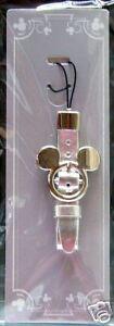 Japan Disney Store~~Mickey Icon Silver Phone Strap