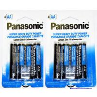 8 PCS Panasonic Battery Super Heavy Duty AA Batteries (2 Packs) free ship to PR
