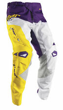 Thor Motocross MX ATV Men's Pants S7 Fuse Air White/Purple 36