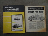 REVUE TECHNIQUE AUTOMOBILE RTA 1975 CITROEN CX MINI BRITISH LEYLAND PEUGEOT 204