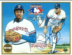 1991 UPPER DECK Texas Rangers HEROES of BASEBALL Promo SIGNED by GAYLORD PERRY