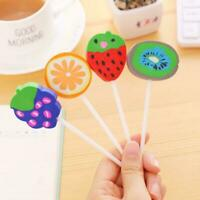 Creative Fruit Eraser Rubber Pencil Candy School Stationery Cute WJ Random F8Y3