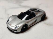 Porsche 918 Spyder Hypercar Silver Hot Wheels 1:64 Diecast model car MINT LOOSE