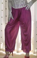 Fuchsia silky nylon pantie slip~pettipants~culottes~bloomers size 20~22 BNWOT
