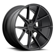 "19"" Staggered Niche Wheels M117 Misano Matte Black Rims and Tires Package"