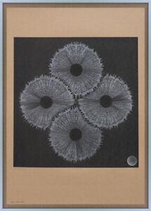 Large Bridget Artist Signed Abstract Minimalist Silkscreen Art Print Op Riley 1