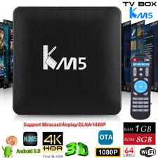 4K 1080P Android 6.0 KM5 3D Smart TV BOX 8GB+1GB Media PlayerLED WiFi OTA H.265